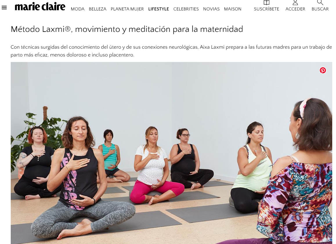La revista Marie Claire recomiendo el Método Laxmi