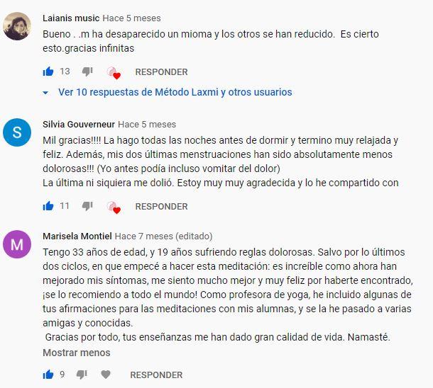 Testimonios Meditación Youtube